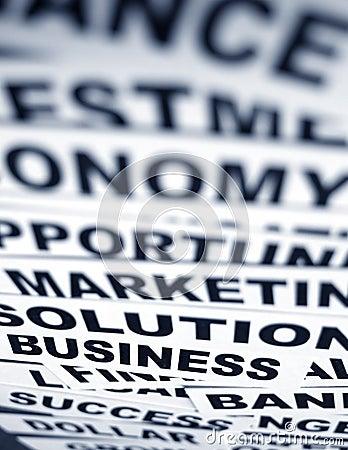 Free Business New Headlines Stock Image - 5488201