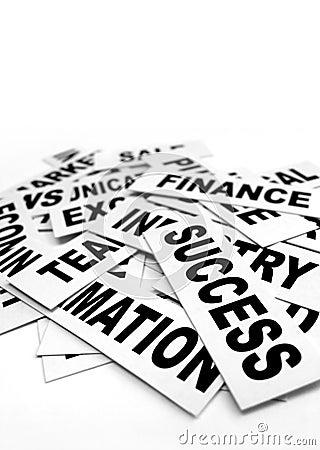 Free Business New Headlines Royalty Free Stock Photo - 5666925