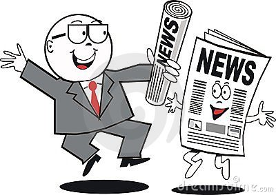Business news cartoon