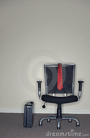 Business Office Chair and Briefcase