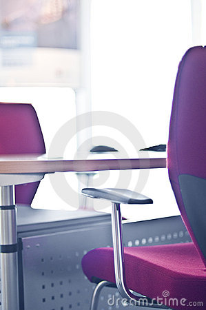 Business office chair and desk