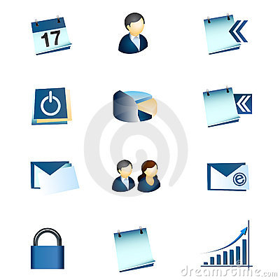 Business Office Internet Icons #1