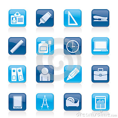 Business and office objects icons