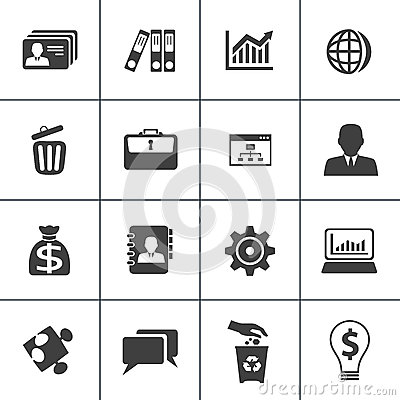 Business and office web icon set