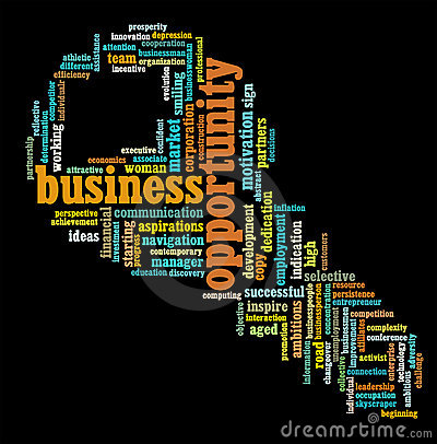 Business opportunity info-text graphics