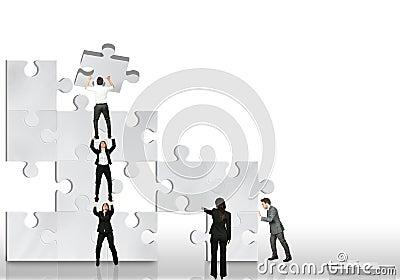 Business partner work together