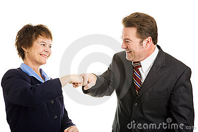 Business Partners Fist Bump