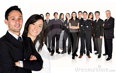 Business Partners Leading Huge Business Team Stock Photography - Image: 1579602