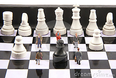Business Pawns Stock Images - Image: 23748384