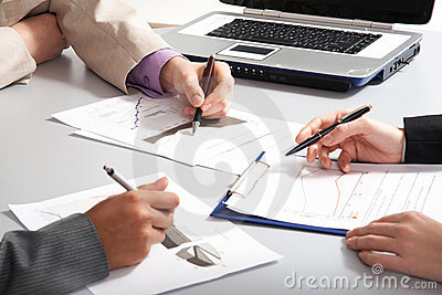 Business people�s hands