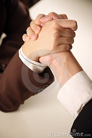 Free Business People Arm Wrestling Royalty Free Stock Photography - 9728047