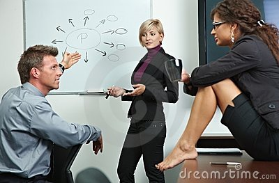 Business people brainstoming in office