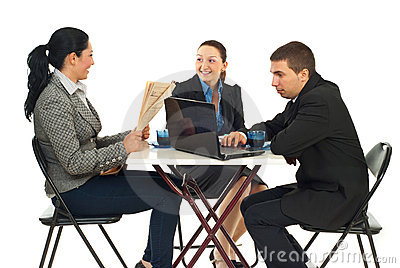 Business people in a cafe shop