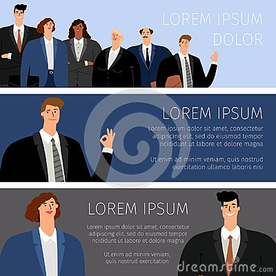 Free Business People Cartoon Banners Stock Photos - 122130273