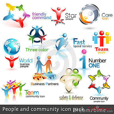 Business people community 3d icons