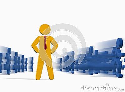 Business people concept – deadline