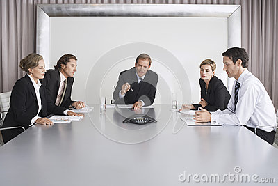 Business People On Conference Call