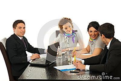 Business people conversation
