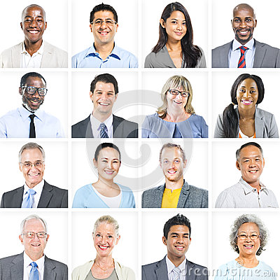 Free Business People Corporate Set Of Faces Concept Royalty Free Stock Photography - 46666747