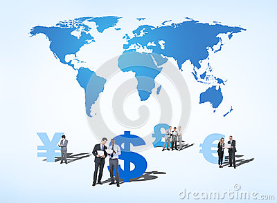 Business People Discussing about Global Finance