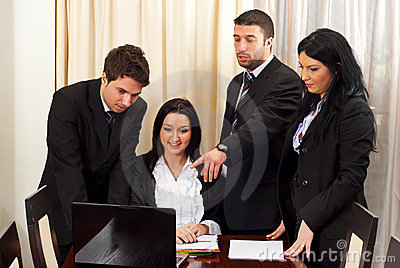 Business people discussion