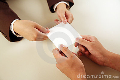 Business people exchanging card