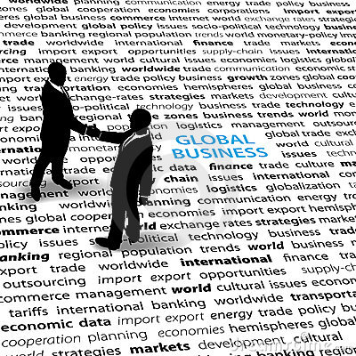 Free Business People Global Economic Issues Text Page Royalty Free Stock Images - 21629829