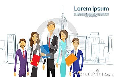 Business People Group Executives Team Cartoon Vector Illustration