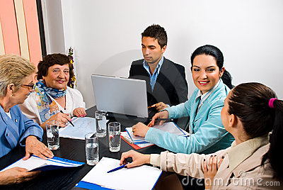 Conversation Before Business Meeting Stock Photo - Image: 42159858