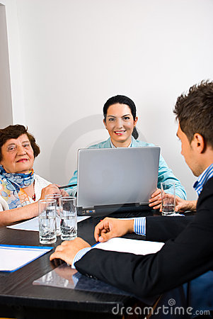 Free Business People Having Meeting In Office Royalty Free Stock Images - 14715989