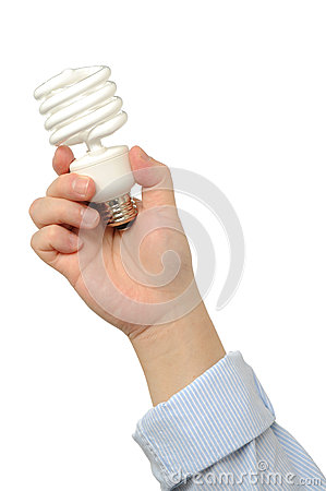Business people holds bulb
