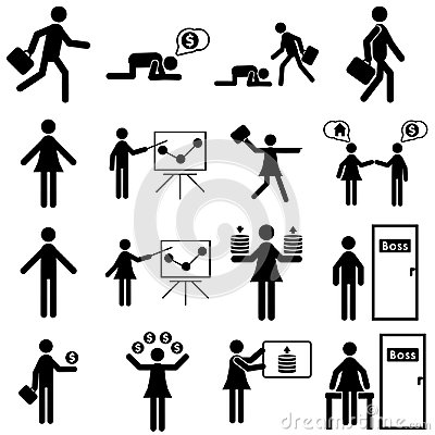 Free Business People Icon Set Stock Images - 117243814