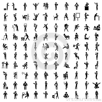 Free Business People Icon Set Royalty Free Stock Images - 37069329