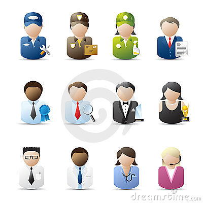 Free Business People Icons Stock Photography - 13443372