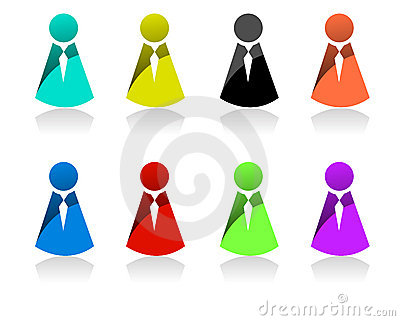 Business People Icons Royalty Free Stock Photography - Image: 15333587