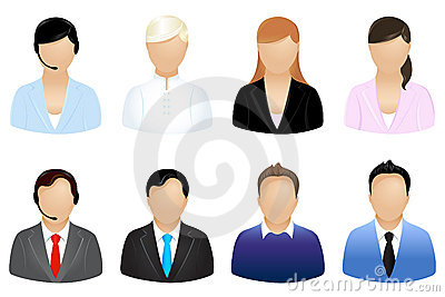 Business People Icons. Vector