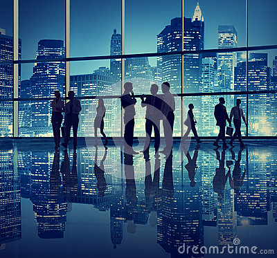 Free Business People In An Office Building Royalty Free Stock Photos - 41200678