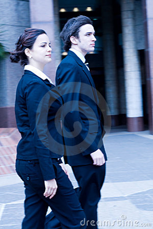 Free Business People In Hurry Stock Images - 5891854
