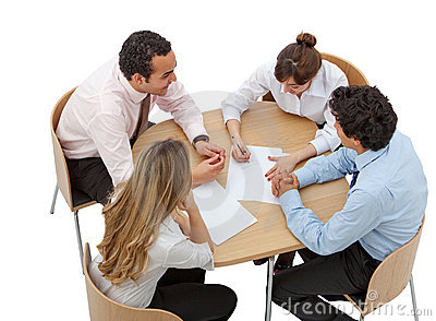 Business people isolated