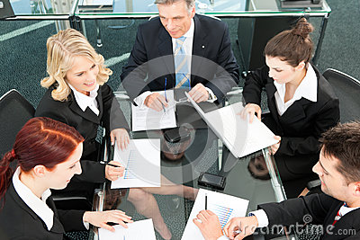 Business people - meeting in an office