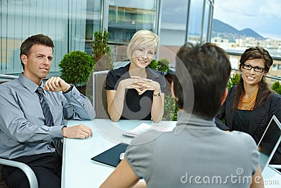 Business people meeting outdoor