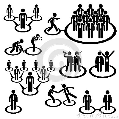 Business People Network Connection Pictogram