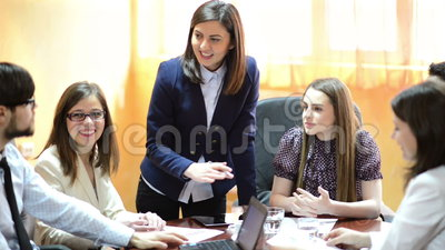 Business People at Office. Business people working as a team at the office