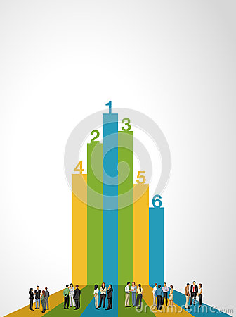 Free Business People On Bar Chart Royalty Free Stock Image - 37049596