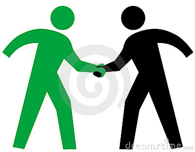 Business People parntership agreement Handshake