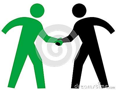 Business People parntership agreement Handshake