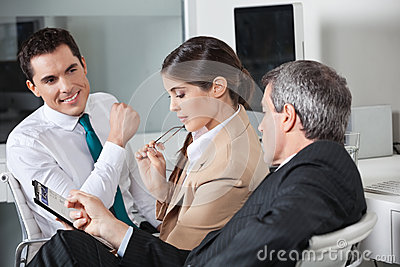 Business people planning capital