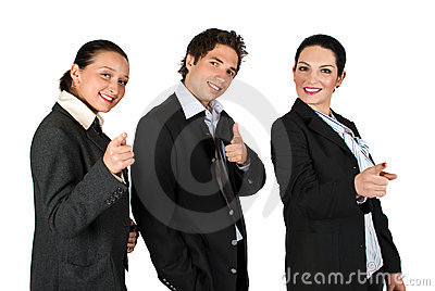 Business People Point To You:You Are The One! Stock Photos - Image: 9253143