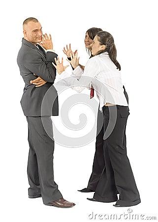 Business people quarrel
