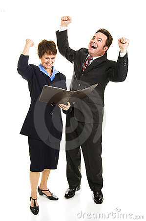 Business People Rejoicing